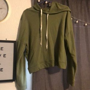 Forever 21 green hoodie